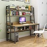QYN Compatto Pratico con Libreria Scrivania del Computer, Libreria Scrivania Combinazione di Archiviazione Pc Tavolo Bambini Studio Computer Tavolo per Casa E Ufficio-m 140x60x164cm(55x24x65inch)