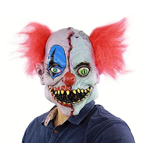 Halloween Creepy Toothy Realistische Horrible Furchterregende Scary Clown Maske Cosplay Kostüme Maskerade Liefert Party Requisiten (Furchterregende Clown Kostüm)