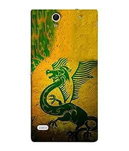 PrintVisa Designer Back Case Cover for Sony Xperia C4 Dual :: Sony Xperia C4 Dual E5333 E5343 E5363 (Artistic Chinese Dragon Fire Wild)