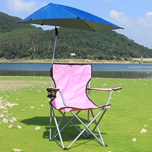 ASJUNQ Sonnenschirm-Stuhl, Outdoor Klapp-Lounge-Sessel Strand-Sonnenschirm-Stuhl Schattenfischen-Strandschirm-Stuhl DramastuhlUltra-Leichter...