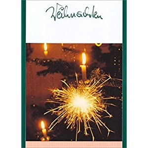 Weihnachten, Textkarte mit Motiv, von Handmadegruss edel und sinnlich für Sie hergestellt, mit edlem Lachs Schmuckblatt verfeinert