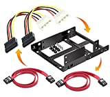 #3: Bracket mounting kit Dual 2.5 Inch to 3.5 Inch Internal hard drive holder SSD/HDD metal tray Bracket-35252