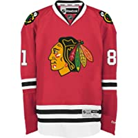 NHL Chicago Blackhawks Marian Hossa Men's Center Ice Team Color Premier Jersey with Name and Number