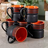 Matt work Black Coffee Mug Set
