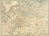 Post-Reise-Karte von Deutschland und den angränzenden Staaten 1828, Plano - Johann Baptist Seitz, O.F. Schmidt, A. Klein, Tessari & Comp.