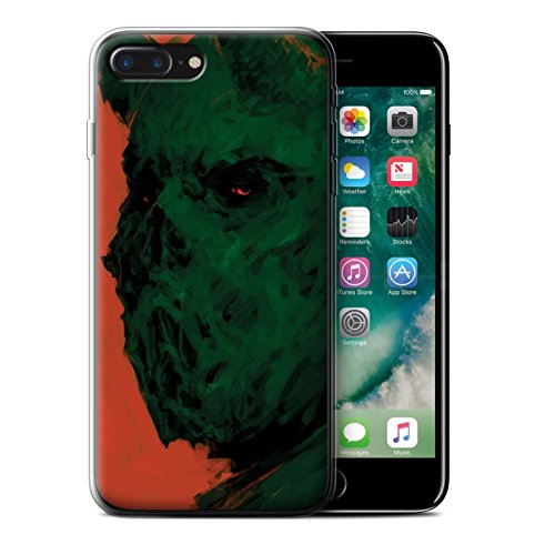 Offiziell Chris Cold Hülle / Gel TPU Case für Apple iPhone 7 Plus / Teufel/Tier Muster / Wilden Kreaturen Kollektion Ungeheuer/Troll