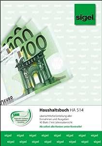 Sigel HA514 Haushaltsbuch, DIN A5, 40 Blatt