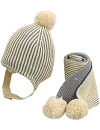 Pro Baumwolle Winter Baby Schal Gestrickte Wolle O-Schals Kinder Einfarbi Dekor