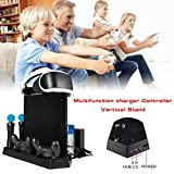 AIflyMi VR Support Vertical, PSVR Casque Gaming Stand, Station de Chargement Double pour PS4/PS4 Slim/PS4 Pro/PS VR