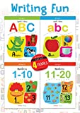 #10: Writing Fun a Set Of 4 Books: Write And Practice Capital Letters, Small Letters and Numbers 1 to 20