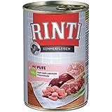 Rinti Pur Kennerfleisch Geflügelherzen für Hunde, 24er Pack (24 x 400 g)