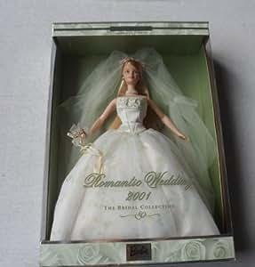 BARBIE poupée blonde - ROBE blanche de mariée - la mariage romantique - collector edition second in a series ROMANTIC WENDDING 2001 bridal collection - mattel 2000