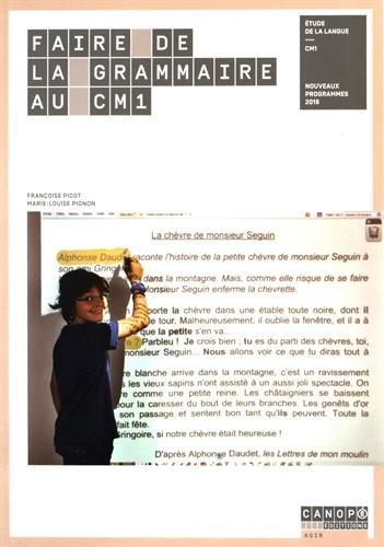 Faire de la Grammaire au CM1 - Nouveau programme 2016