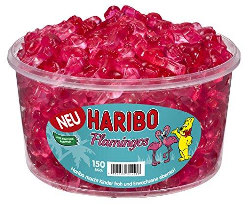 Haribo Flamants Roses, Bonbons, Bonbons Gélifiés, Bonbons Fruités, 150 Pièces, Boîte 1200 g