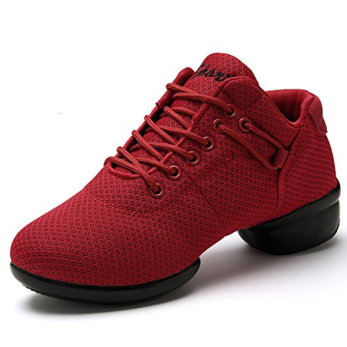 Sneakers Racchette Di Hop Suola Sport Danza Donna Fitness Hip 35 Morbida Bianco Nera Rosa 41 rosso 0dUWSx