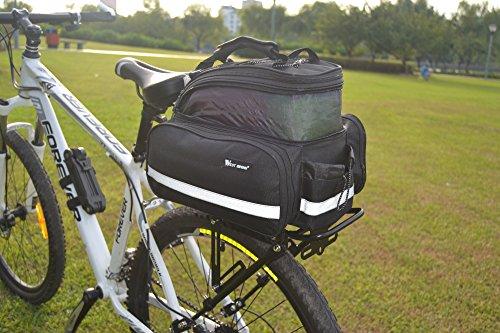 West Biken, Radfahren, Bike, Gepäckträger hinten Cargo-Tasche, Fahrrad Gepäckträgertasche Trunk Racks Handtaschen Gepäck mit wasserfester Abdeckung schwarz - schwarz