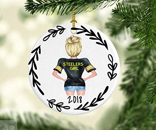 C-US-lmf379581 Pittsburgh Steelers Ornament/Ornament/Personalize Ornament/NFL/ Steelers Fan/Football/Christmas/Friends Ornament/Gift Ideas/Friends