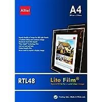 RTL48 - 10 hojas x A4 - Premium y gruesas de papel retroiluminada/Lite para luz LED de bolsillo, Lightbox, paneles de luz para todas las impresoras de inyección y láser copiadoras
