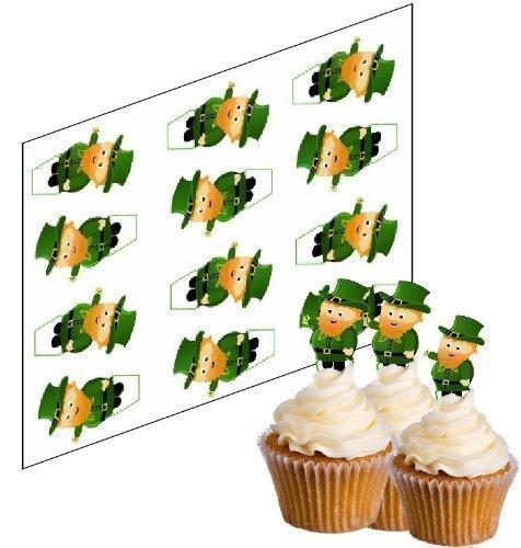 ecker für St. Patricks Tag 'Aufrechtständer' reispapier kuchendekorationen (uncut) ()