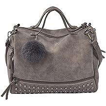 XINANTIME - Mujeres bolso de remache Gran bolsa Cartera Bolsa de hombro Bolsa de viaje (