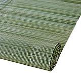 WUFENG Bambus Rollo Isolierung Isolierung Anti-UV Hintergrund Dekoration Umweltschutz Harmlos Türvorhang (Farbe : Emerald Green, Größe : 140x250cm)