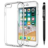 "iSOUL Premium iPhone 8 / 7 Case, [Shock Absorption] Anti-Scratch Clear Bumper Back, Slim, Soft Gel & Protective cover for Apple iPhone 7 8 4.7"" [Liquid Crystal] [Silicone TPU] + [Stylus Touch Pen]"