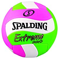 Spalding Extreme Pro Wave Volleyball, Pink/Green/White