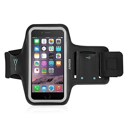 Anker Sport Armband für Apple iPhone 6s / iPhone 6 (4,7 Zoll) Hülle Tasche mit Kopfhöreranschluss und Schlüsselfach sowie 2 anpassbare Klettstreifen; Sizename: 4.7 Zoll (Iphone 6 Armband, Mit Tasche)