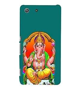 Fiobs Designer Back Case Cover for Sony Xperia M5 Dual :: Sony Xperia M5 E5633 E5643 E5663 (Ganpati Bappa Ganesha Sitting Modak In Hands)