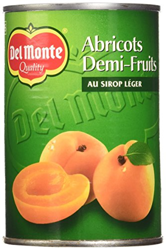 Del Monte Abricots Demi-Fruits au Sirop Léger 420 g