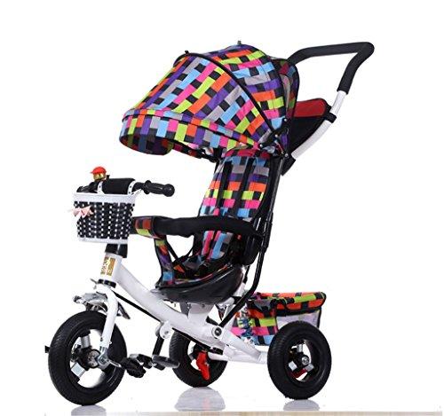 BZEI-BIKE Dreirad Kinderwagen Fahrrad Kind Spielzeugauto Titan Rad/Schaum Rad Fahrrad 3 Räder, faltbar (Junge/Mädchen, 1-3-5 Jahre alt) Kinderspielzeug (Farbe : A Type)