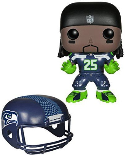 FunKo 4530 No POP Vinylfigur: NFL: Richard Sherman (Seahawks), Lime,Navy,Skin-Dark, Einheitsgröße