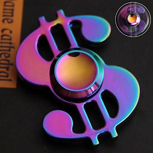 Preisvergleich Produktbild Bunte Handspinner, Zinklegierung EDC Hochgeschwindigkeitslager Tri-Spinner Fidget Spielzeug Stress Reliever Und Angst für Kinder und Erwachsene (Dollar)