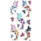 King Horse Nette sexy Tattoo-Aufkleber wasserfester Farbe weiblichen Schmetterlinge Rosen
