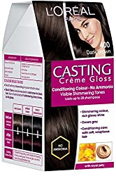 LOreal Paris Casting Creme Gloss, Dark Brown 400, 87.5G+72Ml With Ayur Product In Combo