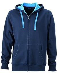 JAMES & NICHOLSON - sweat-shirt à capuche - déperlant - ouverture zippée - JN595 - homme