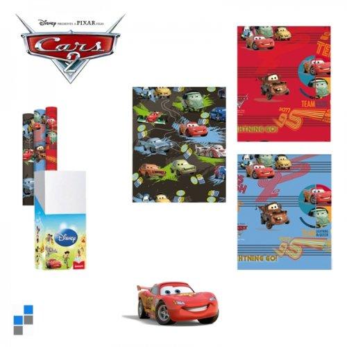 4er Set (4 Rollen) Geschenkpapier, je 200x70cm, Disney Cars 2 verschiedene Motive
