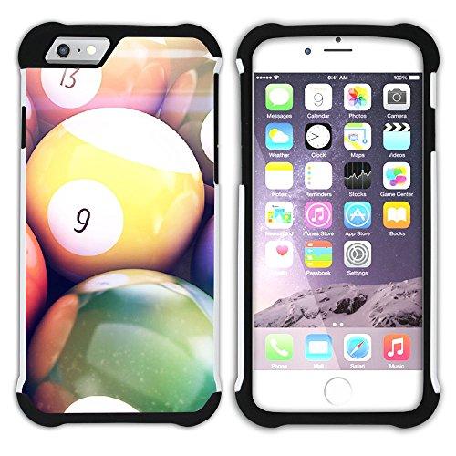 """Graphic4You Billard Billardspiel Kugel """"8 Ball"""" Hart + Weiche Kratzfeste Hülle Case Schale Tasche Schutzhülle für Apple iPhone 6 / 6S Design #5"""