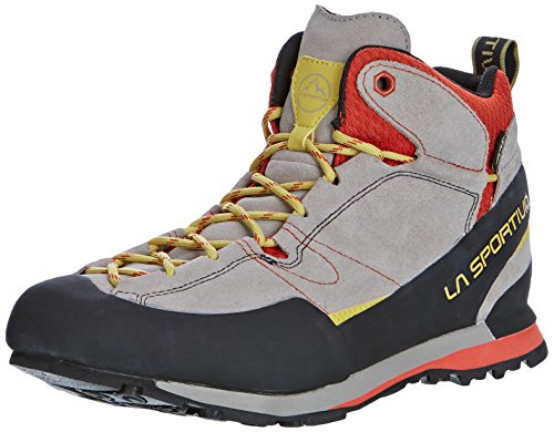 La Sportiva Boulder X Mid GTX – Grey/Red – EU/UK/US M/US W – Solide léger Approach de chaussures grey-red