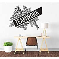 BRILLINT.YY Teamwork Inspirational Words Wall Decals Cooperation Sign Vinyl Wall Sticker Office Room Décor Team Building Wall Poster76X57Cm