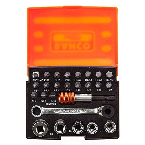 Bahco BAH2058S26 Bit-Steckschlüsselsatz 26-teilig