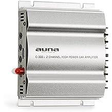 auna C300.2 • Amplificatore per auto • 2 canali amplificatore auto • 200 Watt di potenza RMS • 2 bande di equalizzazione regolabili • Frequenza: 20 Hz - 20 kHz • Impianto multi-connessione • Argento