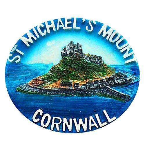 St. Michaels Hill Castle Cornwall UK Großbritannien 3D Kühlschrank Kühlschrankmagnet Travel City Souvenir Collection Dekoration White Board Aufkleber