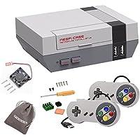 NES NESPI CASE Retroflag Nespi Case con controller USB cablato per giochi e ventole e dissipatori di calore per RetroPie Raspberry Pi 3/2 / B + (Case & Gamepads)