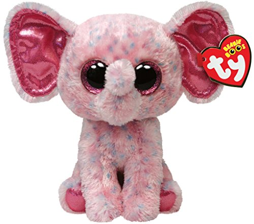 "Beanie Boo Elephant - Ellie - Pink - 15cm 6"""