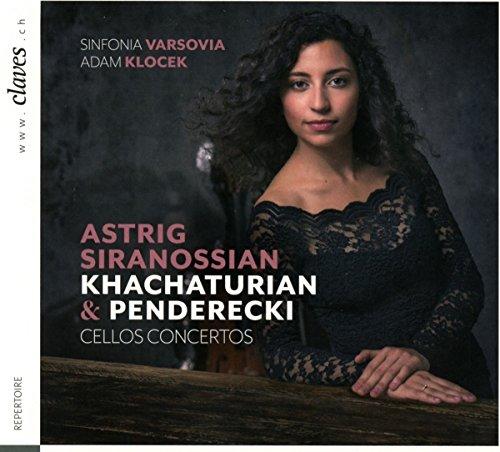 Khachaturian, Penderecki : Concertos pour violoncelle. Siranossian, Klocek.