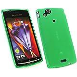 Emartbuy Sony Ericsson Xperia X12 Arc Matt Pattern Gel Case / Cover / Skin Grün