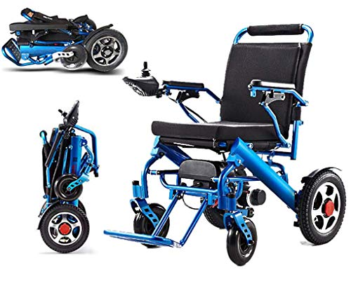 KuiGu Elektrischer Rollstuhl Faltbarer älterer Behindertenhilfe-Auto älterer intelligenter kompakter automatischer tragbarer Leichter Roller Freie Installation, 23kg,20A/25KM