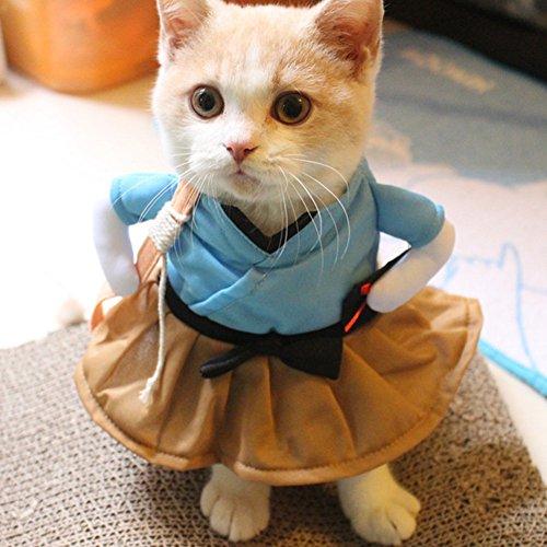 zantec Funny Katze Hund Kostüm Uniform Anzug Kleidung Puppy Verkleidungen Anzug Party Cosplay Kleidung