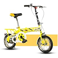 YEARLY Bicicleta plegable infantil, Bicicleta plegable estudiante Luz portátil Alumnos Bicicleta plegable De 6-